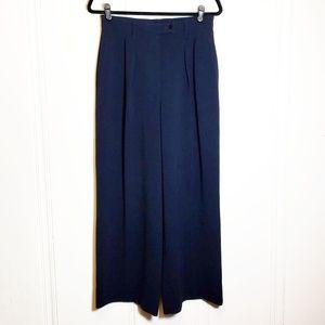 Aritzia Babaton Navy Wide Leg Trousers